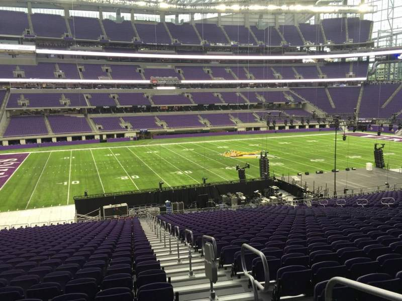 Seating view for U.S. Bank Stadium Section 112 Row 34 Seat 1