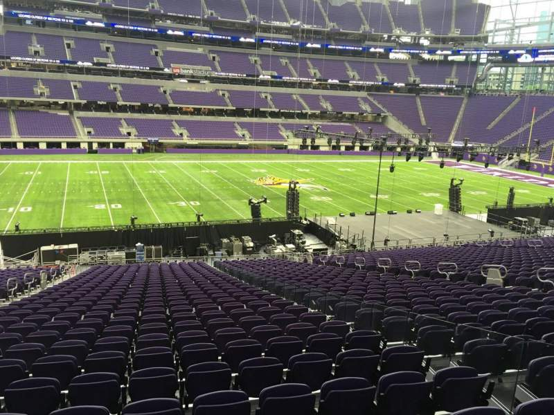 Seating view for U.S. Bank Stadium Section 111 Row 34 Seat 4