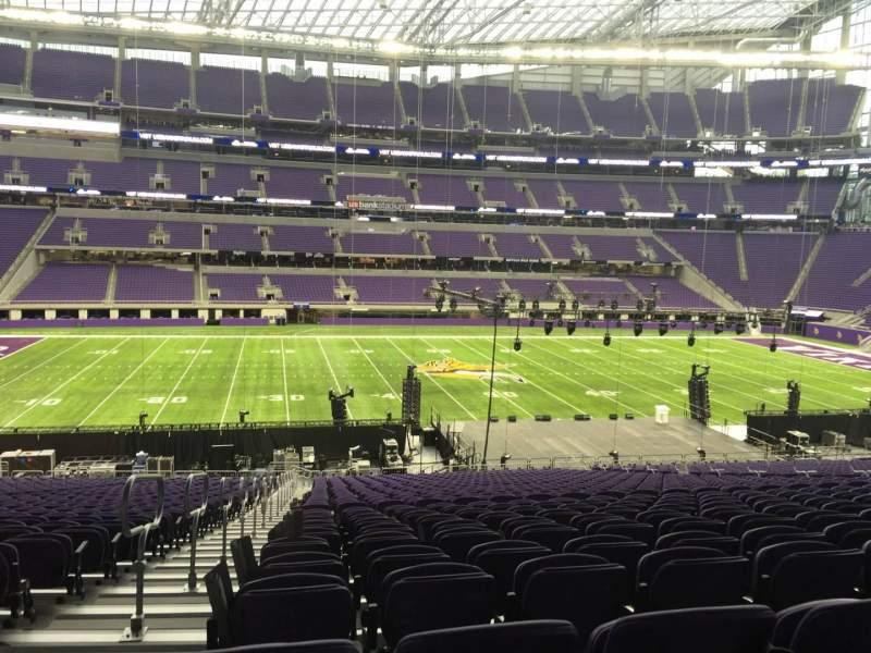 Seating view for U.S. Bank Stadium Section V4 Row 37 Seat 29