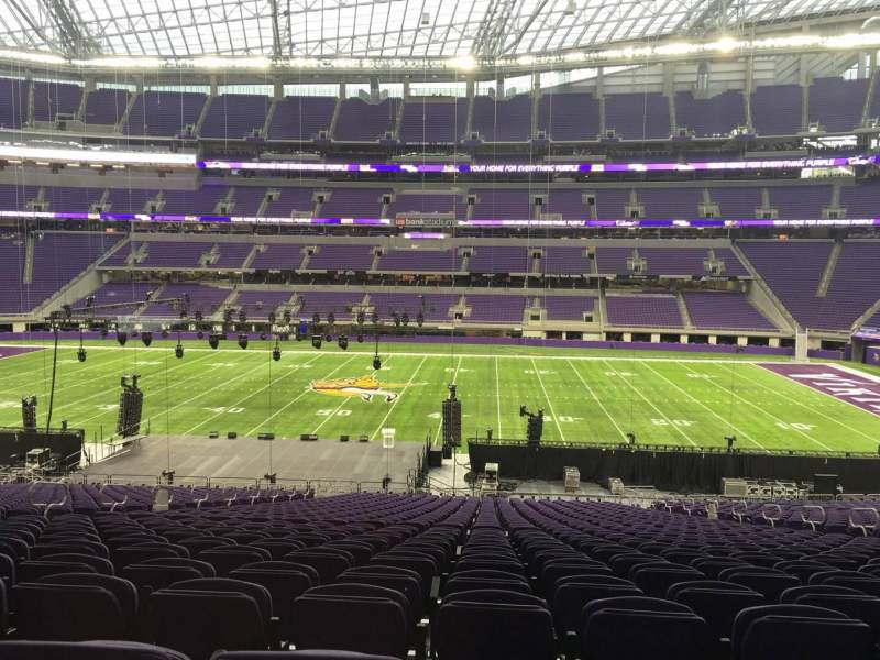 Seating view for U.S. Bank Stadium Section V2 Row 37 Seat 15