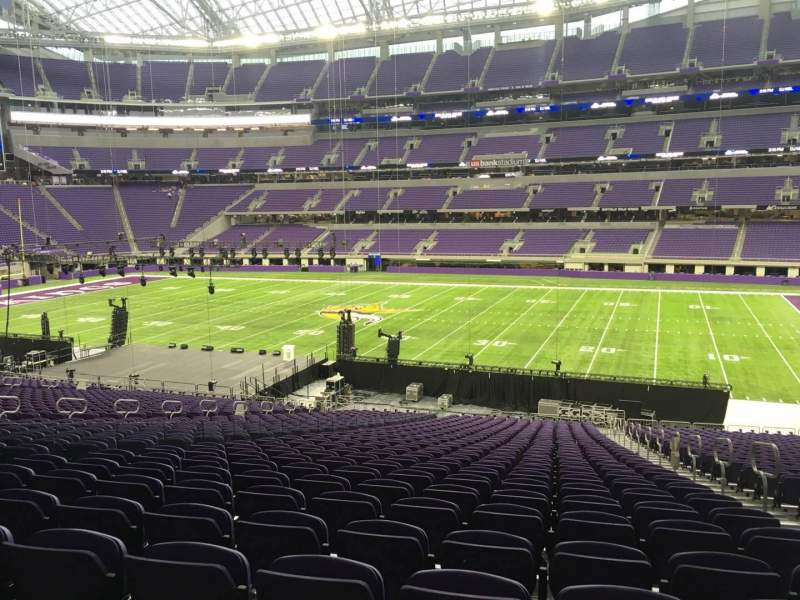 Seating view for U.S. Bank Stadium Section 107 Row 37 Seat 3