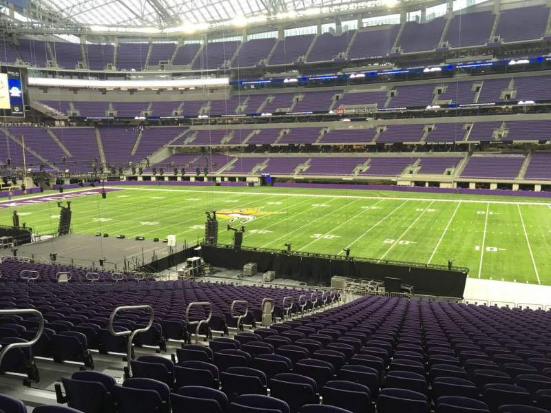 Seating view for U.S. Bank Stadium Section 106 Row 34 Seat 26