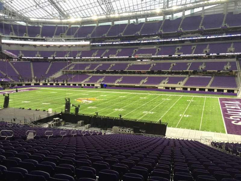 Seating view for U.S. Bank Stadium Section 106 Row 34 Seat 8
