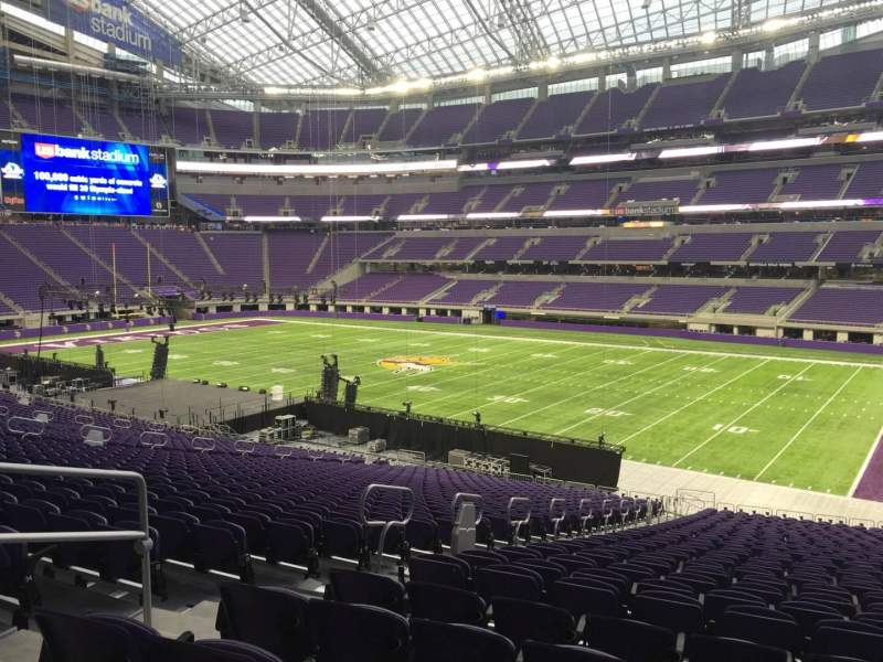 Seating view for U.S. Bank Stadium Section 105 Row 37 Seat 7