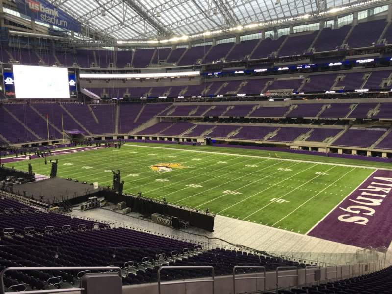 Seating view for U.S. Bank Stadium Section 103 Row 39 Seat 53