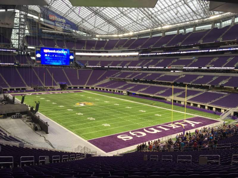 Seating view for U.S. Bank Stadium Section 101 Row 42 Seat 34