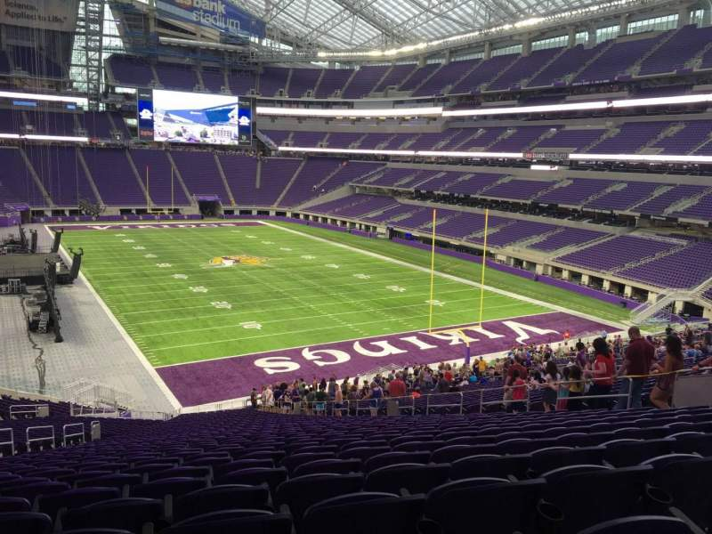 Seating view for U.S. Bank Stadium Section 101 Row Acc