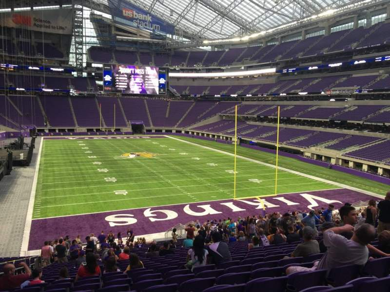 Seating view for U.S. Bank Stadium Section 143 Row 31 Seat 20
