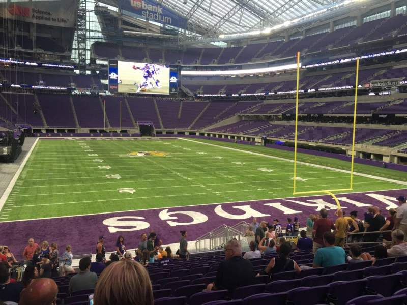 Seating view for U.S. Bank Stadium Section 143 Row 18 Seat 16