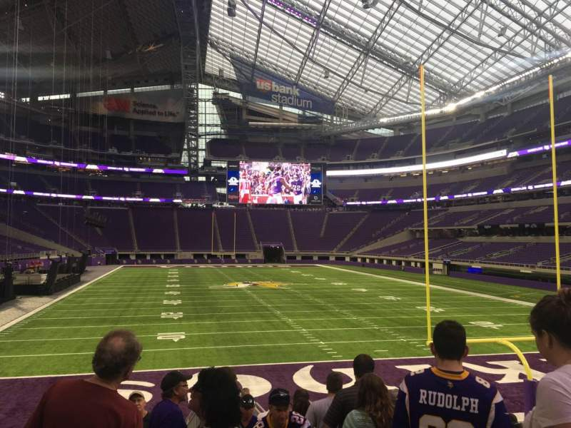Seating view for U.S. Bank Stadium Section 143 Row 12 Seat 1