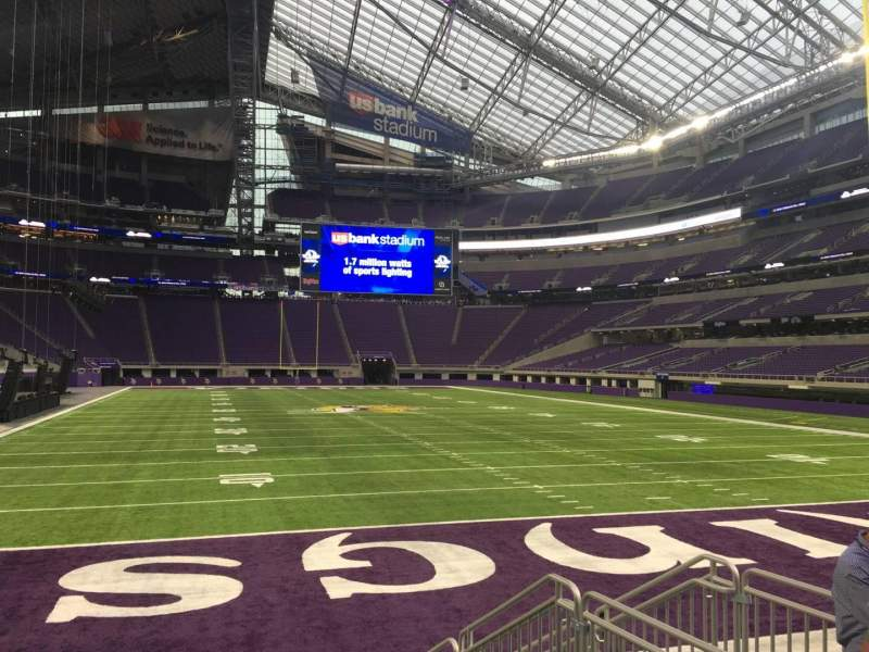 Seating view for U.S. Bank Stadium Section 143 Row 4 Seat 5