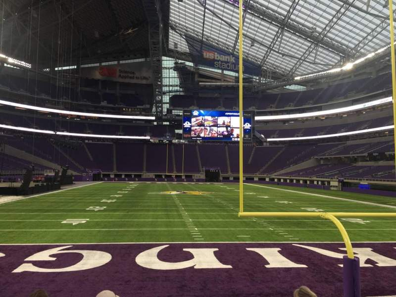 Seating view for U.S. Bank Stadium Section 142 Row 5 Seat 12