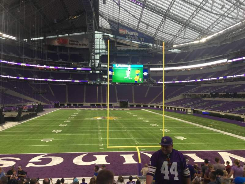 Seating view for U.S. Bank Stadium Section 142 Row 16 Seat 9