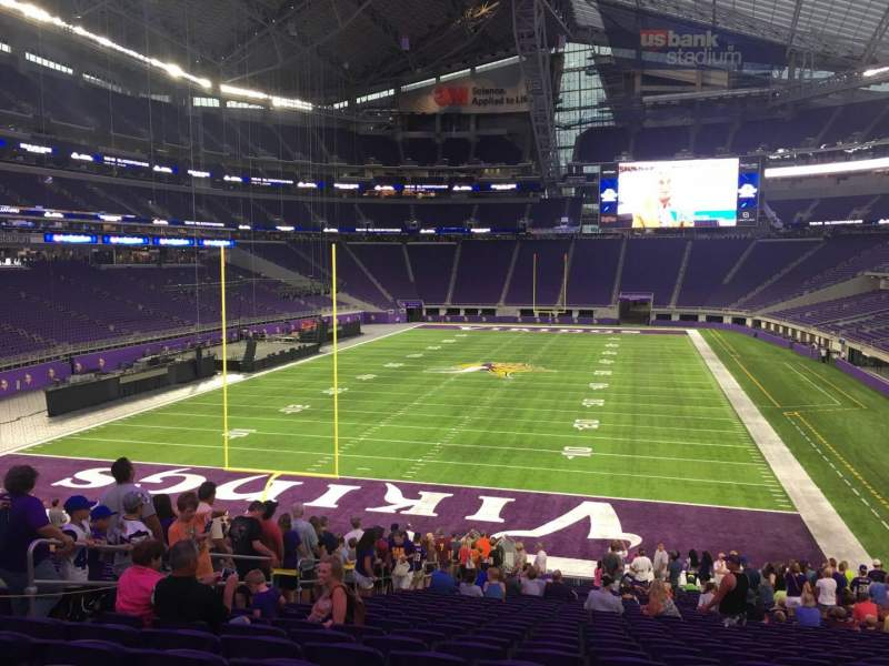 Seating view for U.S. Bank Stadium Section 140 Row 30 Seat 18