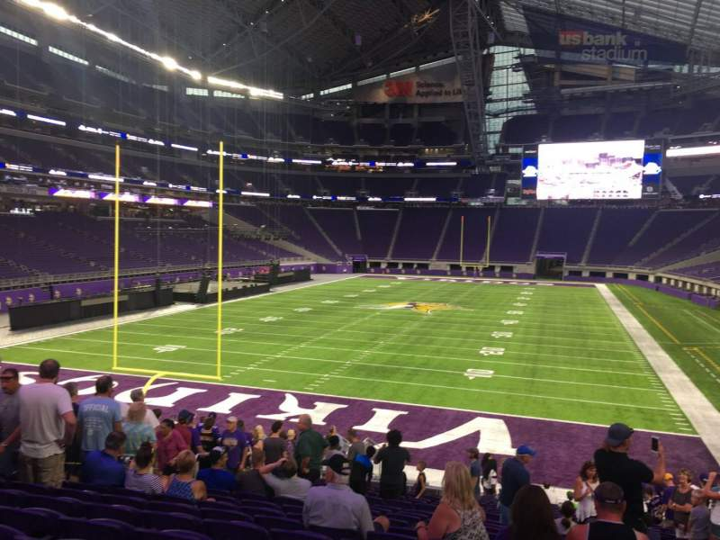 Seating view for U.S. Bank Stadium Section 140 Row 21 Seat 13