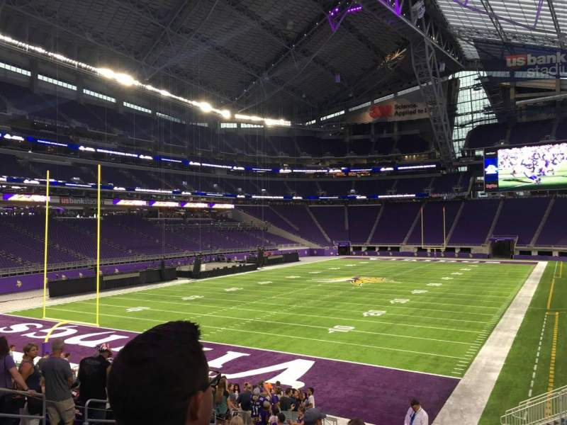 Seating view for U.S. Bank Stadium Section 138 Row 20 Seat 24