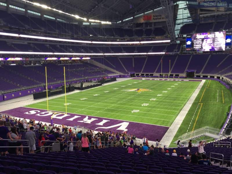 Seating view for U.S. Bank Stadium Section 138 Row 35 Seat 37