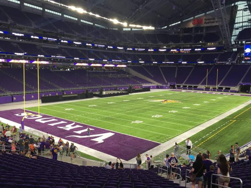 Seating view for U.S. Bank Stadium Section 138 Row 25 Seat 6