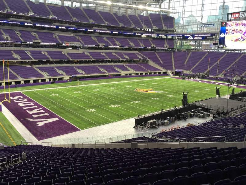 Seating view for U.S. Bank Stadium Section 114 Row 39 Seat 22