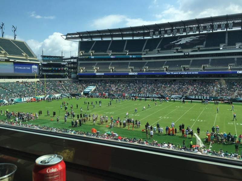 Seating view for Lincoln Financial Field Section LS62 Row 1 Seat 2