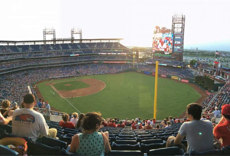 Seating view for Citizens Bank Park Section 327 Row 19 Seat 15