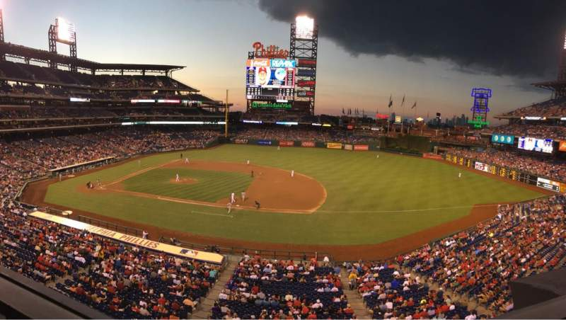 Seating view for Citizens Bank Park Section 214 Row 1 Seat 10