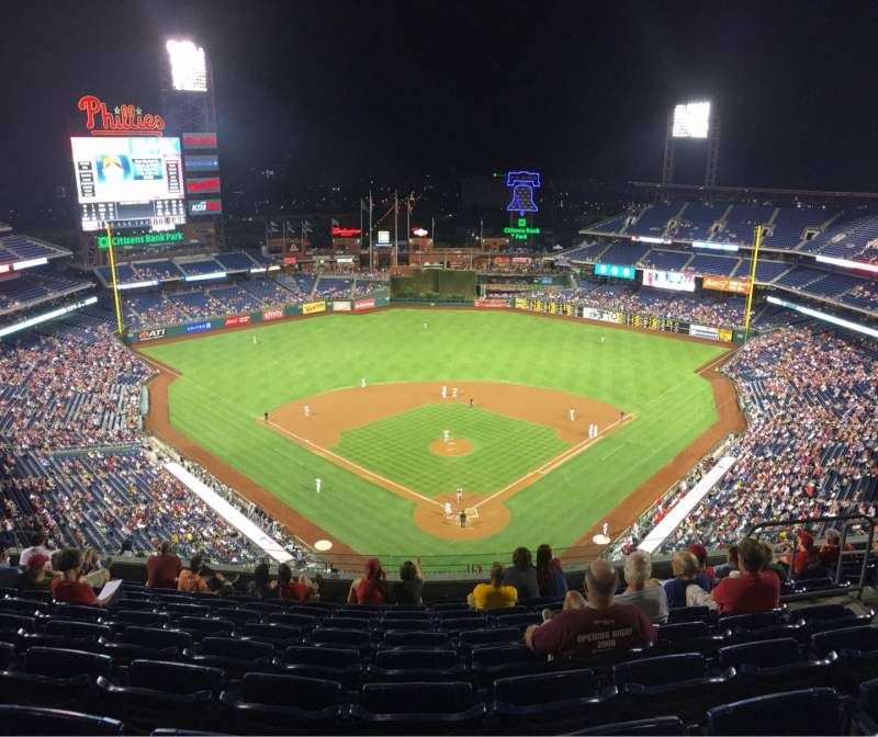 Seating view for Citizens Bank Park Section 421 Row 10 Seat 9