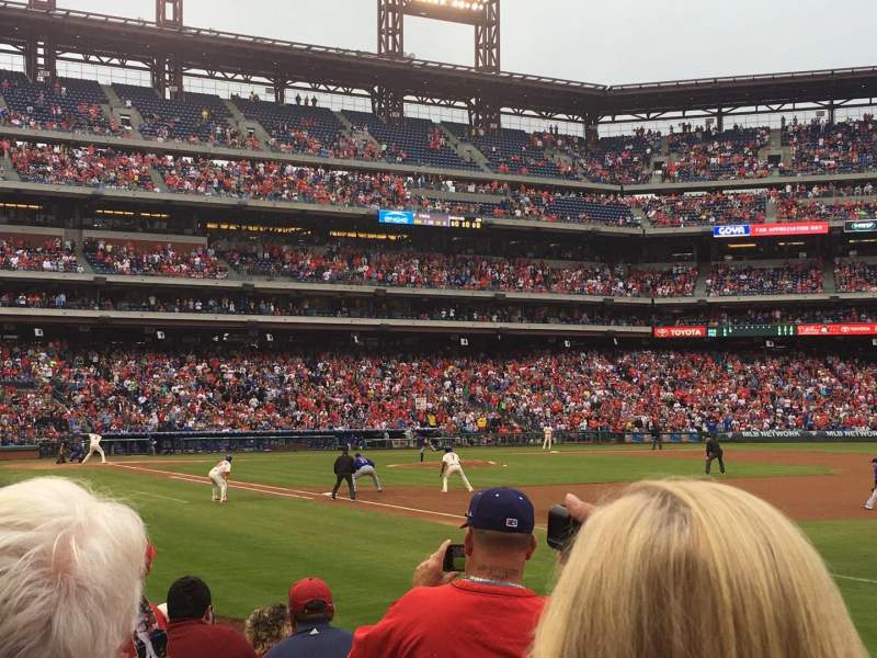 Seating view for Citizens Bank Park Section 111 Row 11 Seat 9
