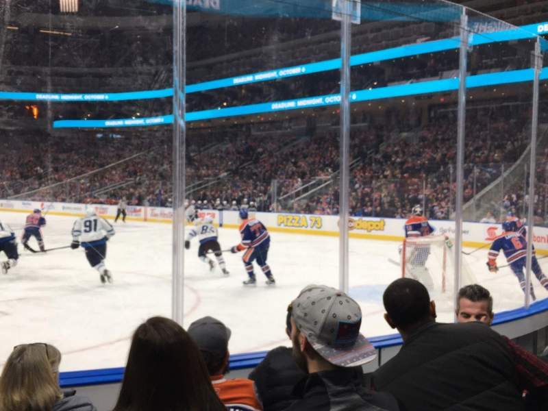 Seating view for Rogers Place Section 113 Row 4 Seat 5