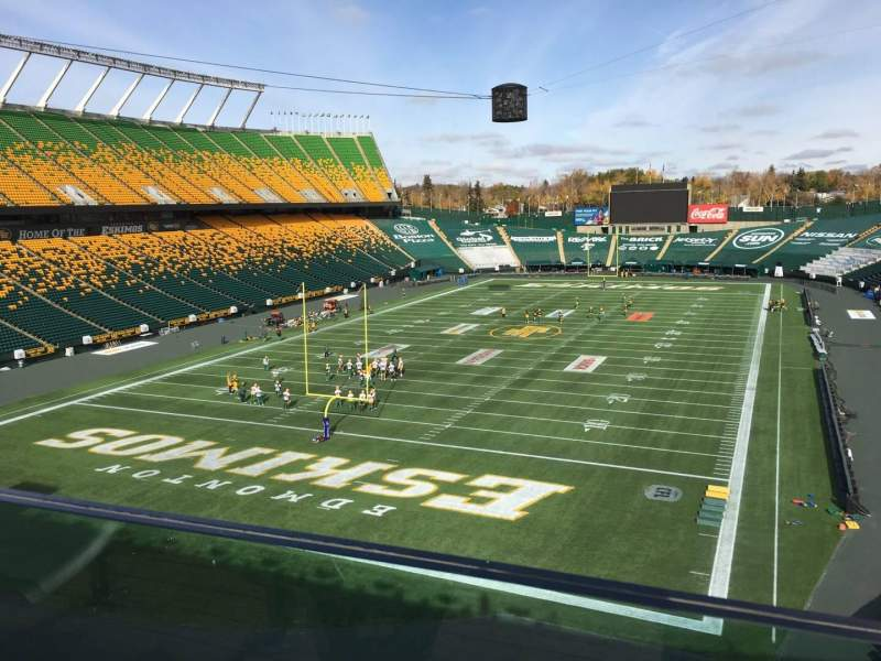 Seating view for Commonwealth Stadium (Edmonton) Section Endzone Table 1