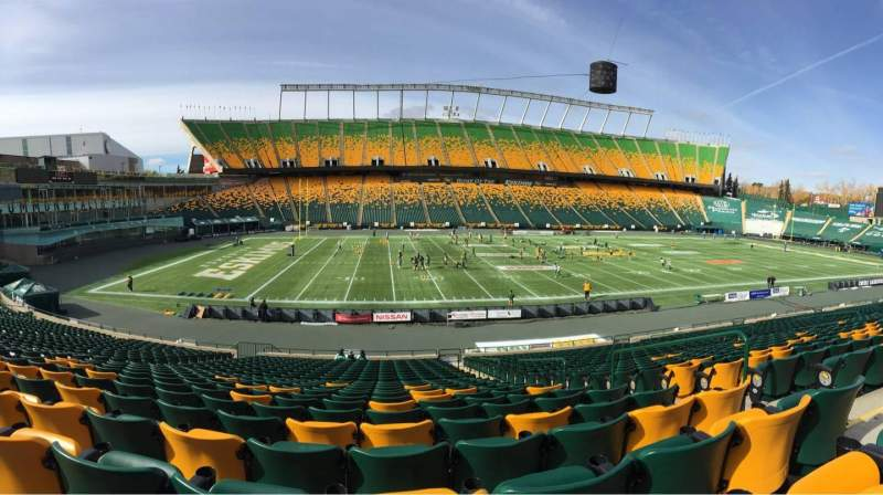 Seating view for Commonwealth Stadium (Edmonton) Section X Row 25 Seat 5