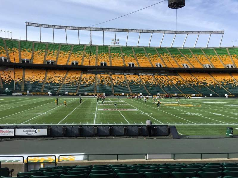 Seating view for Commonwealth Stadium (Edmonton) Section V Row 10 Seat 13
