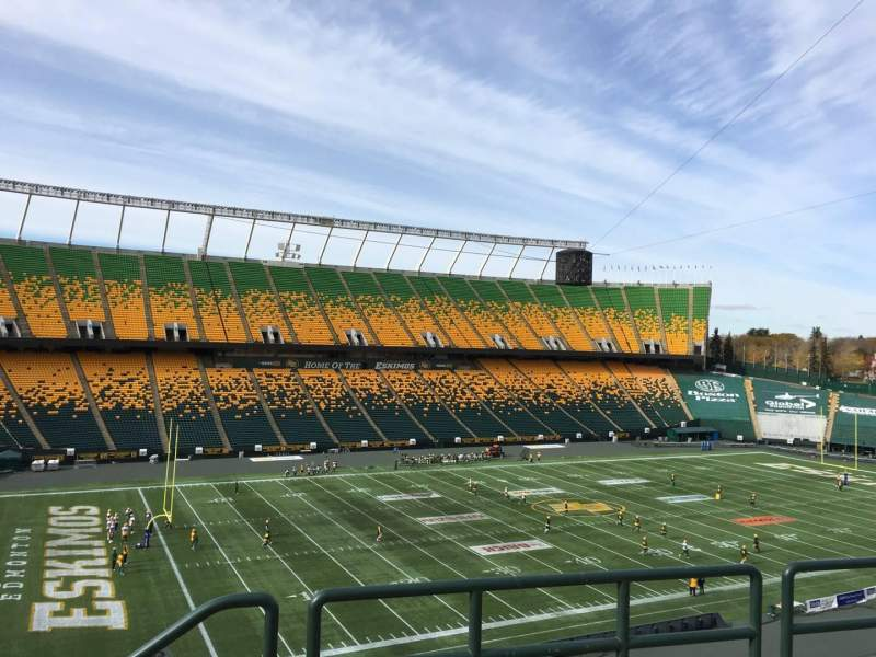 Seating view for Commonwealth Stadium (Edmonton) Section Y Row 49 Seat 1