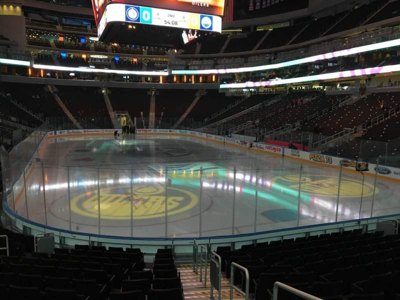 Seating view for Rogers Place Section 113 Row 13 Seat 1