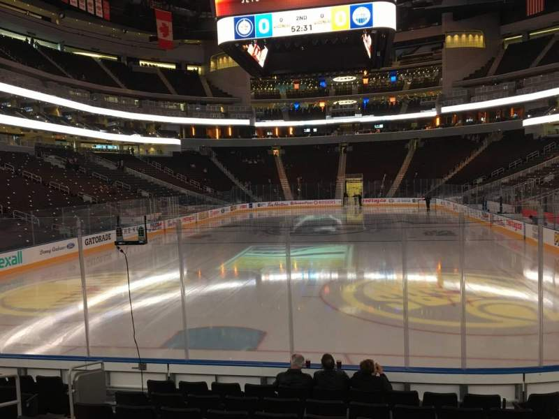Seating view for Rogers Place Section 110 Row 9 Seat 9