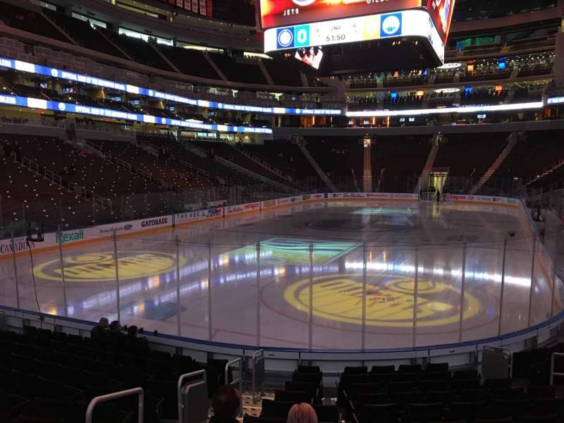 Seating view for Rogers Place Section 109 Row 12 Seat 11