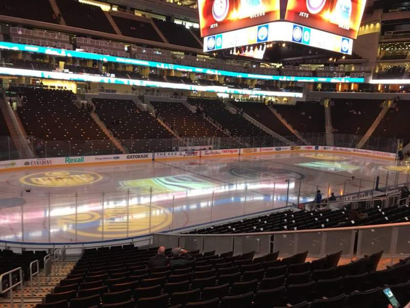Seating view for Rogers Place Section 105 Row 19 Seat 15