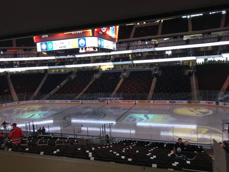 Seating view for Rogers Place Section 101 Row Bar Rail Seat 3