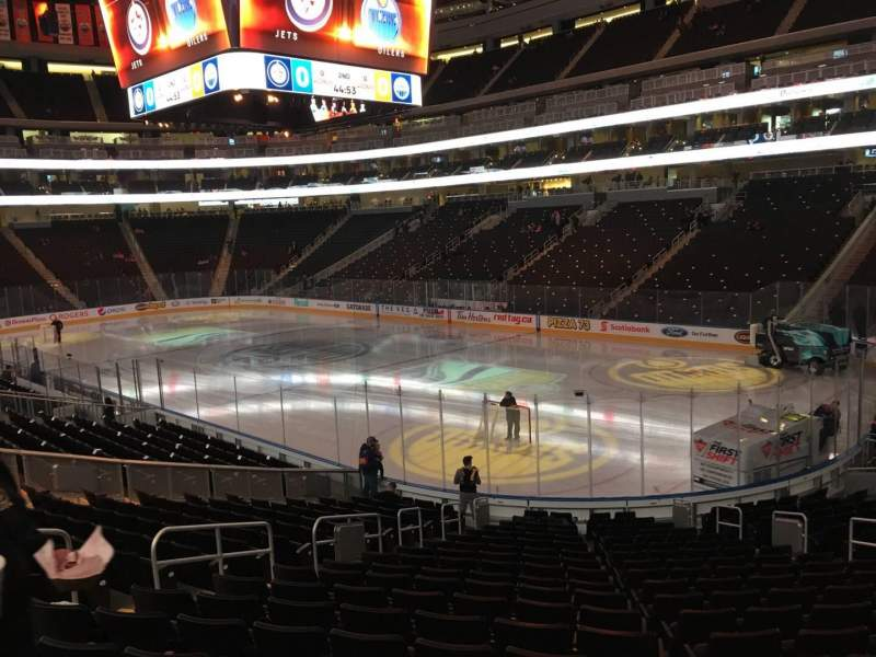 Seating view for Rogers Place Section 132 Row 19 Seat 13