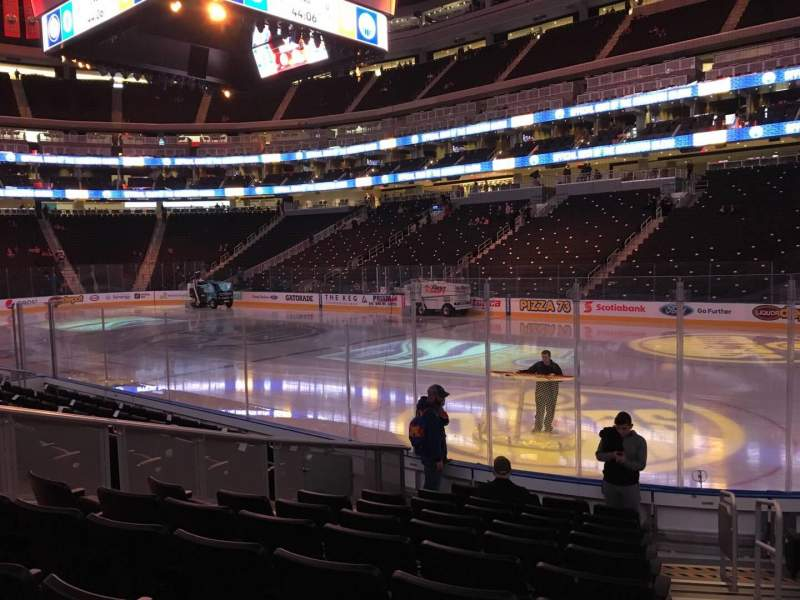 Seating view for Rogers Place Section 134 Row 10 Seat 1