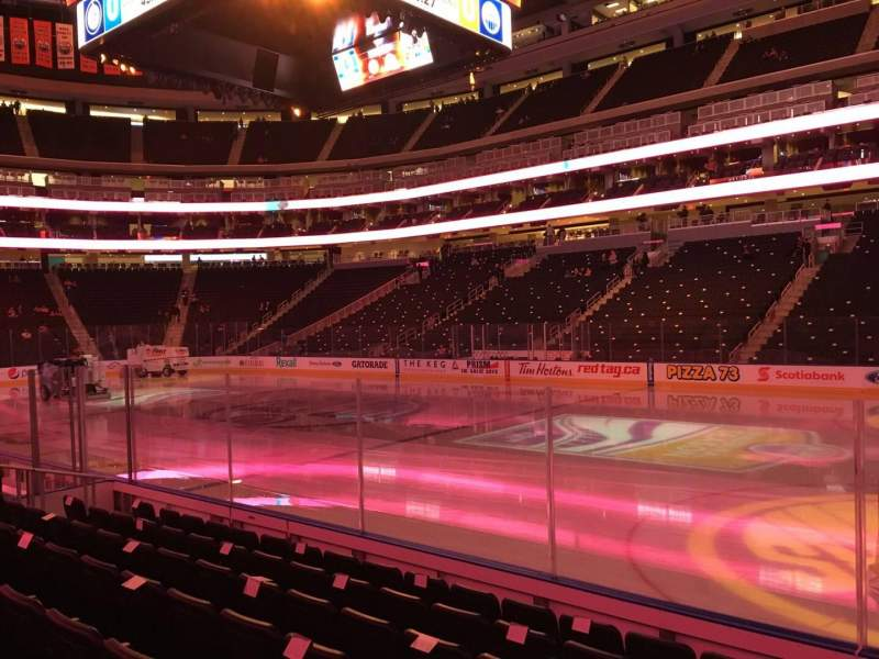 Seating view for Rogers Place Section 101 Row 7 Seat 1