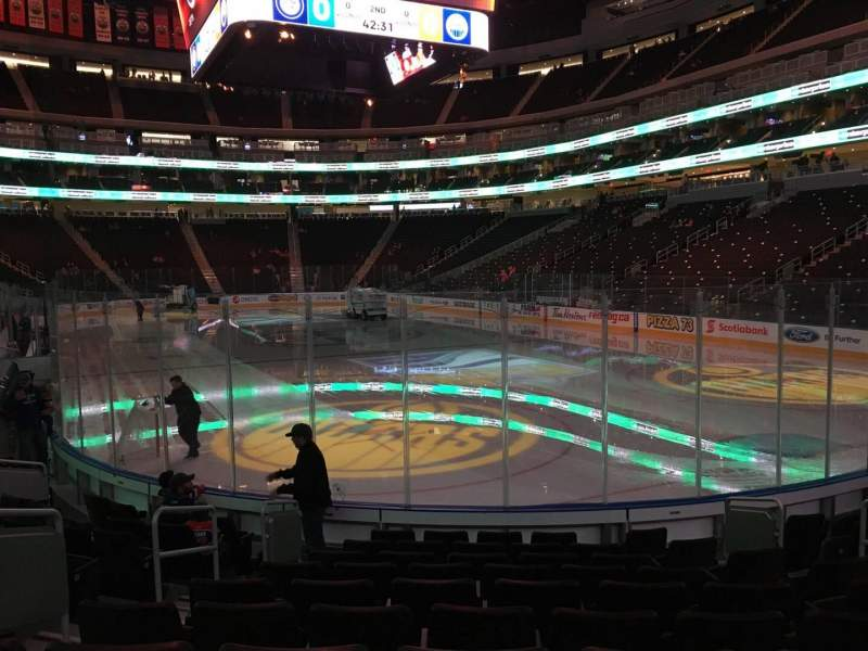 Seating view for Rogers Place Section 130 Row 10 Seat 8