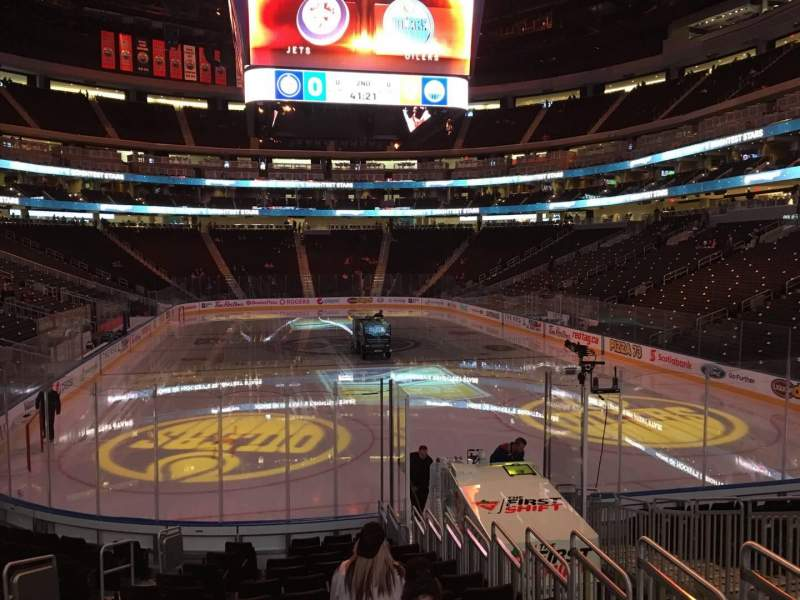 Seating view for Rogers Place Section 129 Row 14 Seat 10