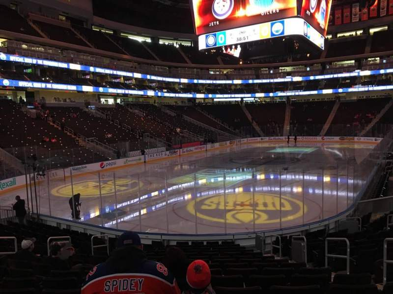 Seating view for Rogers Place Section 126 Row 15 Seat 5