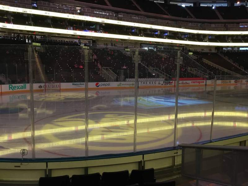 Seating view for Rogers Place Section 122 Row 6 Seat 5