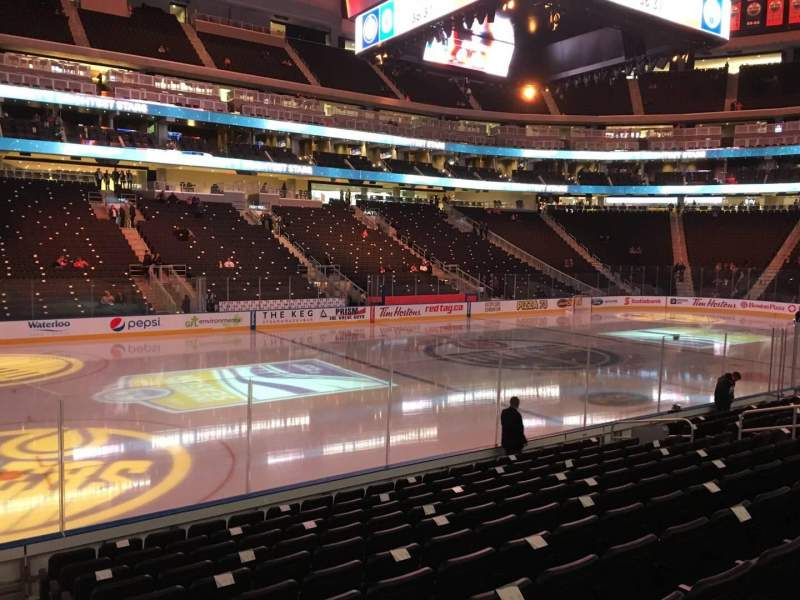 Seating view for Rogers Place Section 121 Row 11 Seat 16
