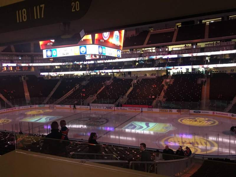 Seating view for Rogers Place Section 117 Row Bar Rail Seat 19