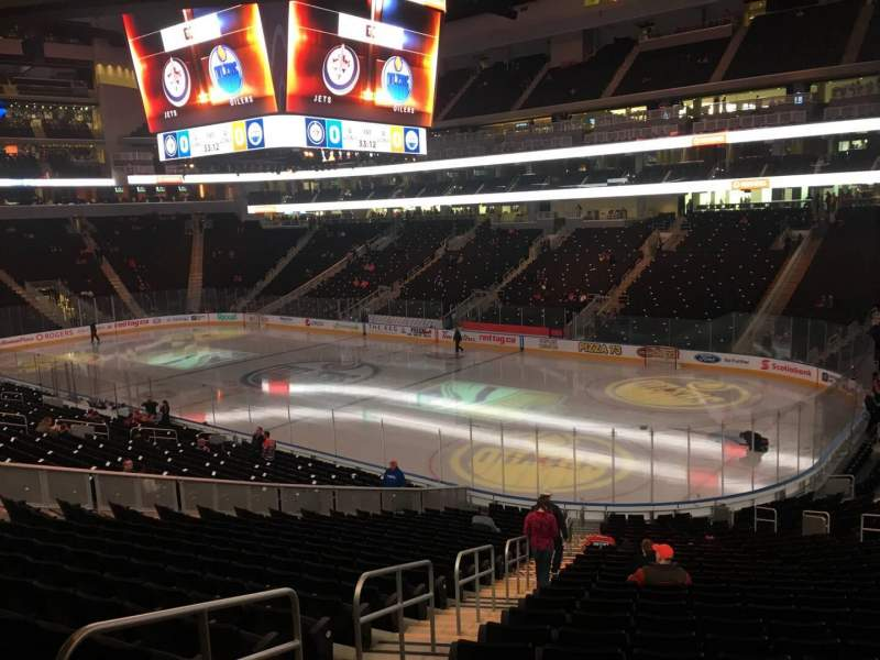 Seating view for Rogers Place Section 115 Row Bar Rail Seat End