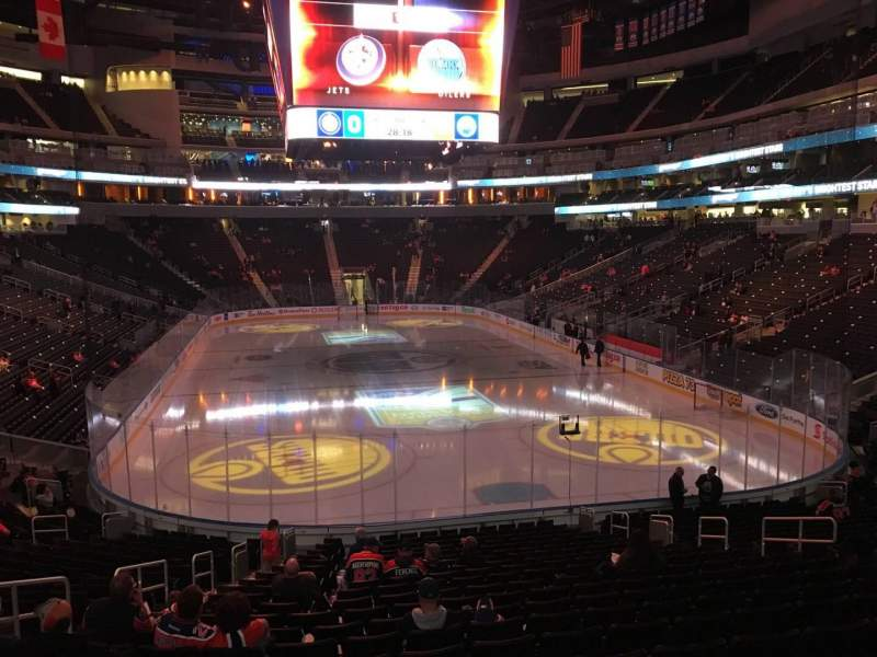 Seating view for Rogers Place Section 112 Row 21 Seat 14