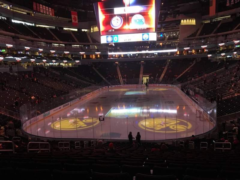 Seating view for Rogers Place Section 110 Row 23 Seat 12
